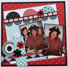 Scrapbook Layout Papercrafting Bazzill Patterned Papers