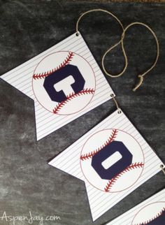 Love this easy way to decorate for a baseball themed party and all you have to do is print and cut! This website even has MORE baseball related printables all for free! Baseball First Birthday, Sports Birthday, Baby Birthday, First Birthday Parties, Birthday Party Themes, First Birthdays, Birthday Ideas, Theme Parties, Baseball Party Decorations