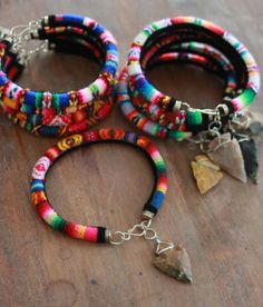 Peruvian Manto Friendship Bracelets  ARROWHEAD by MesaBlue on Etsy, $18.00