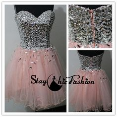 Silver Pink Sparkly Top Sweetheart Strapless by StayChicFashion Pink Sparkly, Prom Dresses, Formal Dresses, Homecoming, Trending Outfits, Unique Jewelry, Handmade Gifts, Silver, How To Wear
