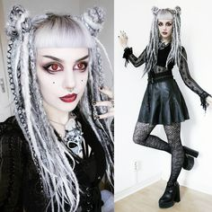 Fashion Face, Fashion Beauty, Goth Model, Goth Look, Gothic Makeup, Dreadlock Hairstyles, Alternative Outfits, Our Lady, Woman Face