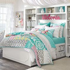 dream rooms for girls teenagers - dream rooms . dream rooms for adults . dream rooms for women . dream rooms for couples . dream rooms for girls teenagers . dream rooms for adults bedrooms Cute Bedroom Ideas, Awesome Bedrooms, Cool Rooms, Bedroom Inspiration, Teen Girl Bedrooms, Tween Girl Bedroom Ideas, Bed Ideas For Teen Girls, Tween Beds, Teen Bedroom Colors