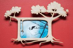 Banyan Tree laser cut mahogany wood picture frame by EliseKoncsek, $35.00