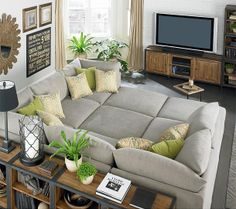 Sectional Couch that is more like a bed. Would be great in an entertainment room.