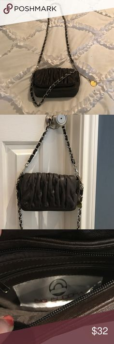 Small Big Buddha convertible cross body purse Cute little cross body perfect for your phone keys and a lipstick! Quilted front panel with magnetic closure. Both straps long and short are removable so it can be carried as a clutch as well! Big Buddha Bags Crossbody Bags