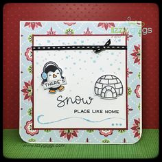 """A Make & Take for the store using """"Snow Cool"""" (LF1226) by Lawn Fawn"""