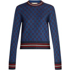 1e0670ee2 Gucci GG jacquard-knit cropped sweater ( 1