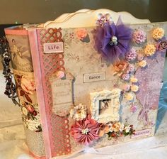Handmade Photo Album Shabby Romantic Vintage Scrapbook Ballet Theme | eBay