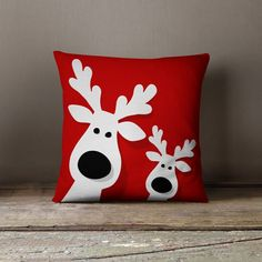 Christmas Pillows Holiday Pillows Christmas von wfrancisdesign Christmas Pillow Christmas Pillow by Reindeer Decorations, Decoration Christmas, Holiday Decorations, Christmas Cushions, Christmas Pillow, Christmas Sewing, Noel Christmas, Christmas Tables, Etsy Christmas