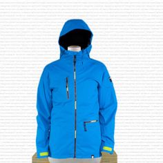 2014 Mens Ride 3.5L Cocona Lincoln Snowboard Jacket Large True Blue Snap in Vest