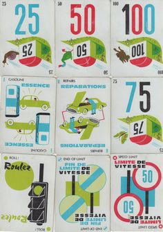 Mille Bornes card game I played as a child. Fantastique!