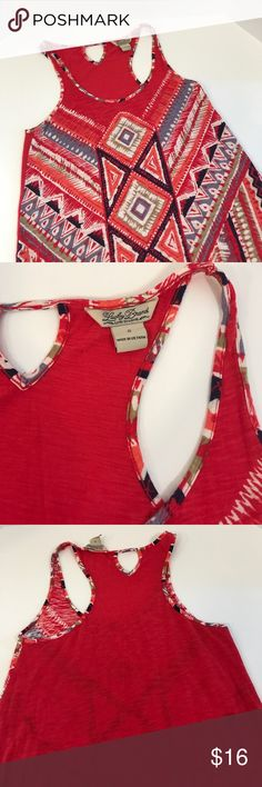 Lucky Brand Women's Small Tribal Aztec Tank Top Great condition! Reasonable offers accepted! Bundle for a private discount! Lucky Brand Tops Tank Tops