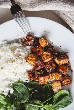 Easy caramelized tofu recipe || VEGAN