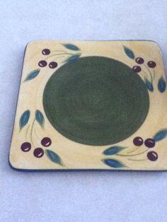 Olive design trivet