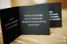 Never let success get to your head.  Never let failure get to your heart.  #Engage12