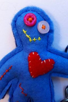 This item is unavailable Button Eyes, Heart Button, Felt Keyring, Hand Sewn, Hanging Out, Sale Items, Bobby, Keys, Dinosaur Stuffed Animal