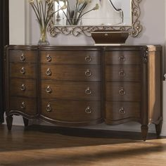 American Drew Jessica McClintock Couture 12 Drawer Triple Dresser in Mink Finish - List price: $3,079.00 Price: $2,155.00