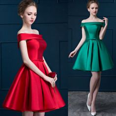 Womens-Fashion-Elegant-Off-Shoulder-Party-Prom-Gown-Cocktail-Knee-Length-Dresses