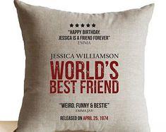 Birthday Gift For Mom, Movie Poster Pillow Cases, Personalized Movie Poster Pillow, Movie Poster Art, World's Best Mom