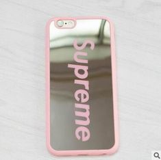 Fashion Brand Supreme Mirror Phone Case For iPhone 7 6 Plus 5 SE Hard PC Electroplate Coque Fundas For iPhone 7 Case Diy Iphone Case, Floral Iphone Case, Marble Iphone Case, Iphone Phone Cases, Iphone Case Covers, Marble Case, Funda Iphone 6s, Capas Iphone 6, Coque Iphone 6