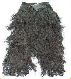 Ghillie Suit Pants Woodland Medium