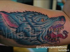 Wolf by Mark Peoples done at Gypsy Rose Tattoos