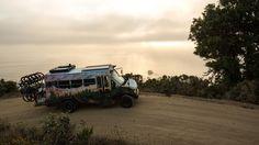 Why This Short Bus Is the Ultimate Adventure Vehicle Bus Motorhome, Motorhome Conversions, Bus Camper, Vw Bus, Van Rv Conversion, U Haul Truck, Converted School Bus, Surf Trip, Surf Travel