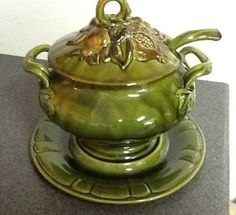 Calif Usa Fruit Decorated Soup Tureen With Ladle Los
