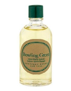 Bowling Green After Shave Lotion (liquid) by Geoffrey Beene After Shave Lotion, Male Grooming, Bowling, Shaving, Perfume Bottles, Traditional, Green, Perfume Bottle, Close Shave
