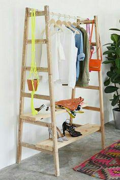DIY Garderobe aus 2 Leitern