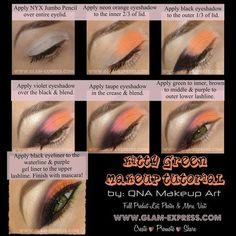 QNA MAKE UP ART #eyes #eyemakeup #coral #eyeshadow - bellashoot.com