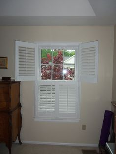 Double Hung Plantation Shutters are also  called Tier Shutters Double Hung  Or  Tier Shutters are a popular Option  that  mean that you can swing the panels on top portion out of the window separately from the bottom panels  by using  1/ 2 / 3  panels on one side  for decorative purpose some prefer the more traditional  ,country or cottage look that a double hung shutter provides