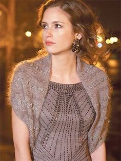 Evening Shrug Knitting Pattern | Knitting Patterns for Shrugs and Boleros, many free patterns at http://intheloopknitting.com/free-shrug-bolero-knitting-patterns/