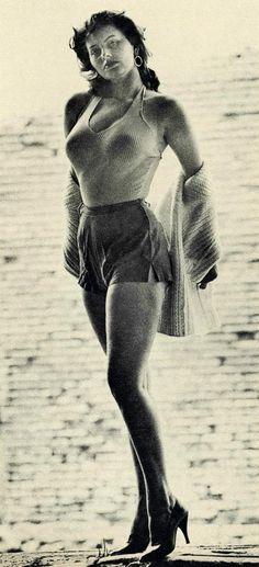 "gameraboy: "" Sophia Loren Esquire, October, 1955 """