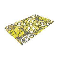 24 x 36 Kess InHouse Nika Martinez Glitter Triangles in Gold Tan Yellow Luxe Rectangle Panel