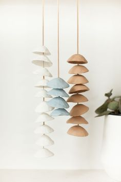 DIY clay chimes