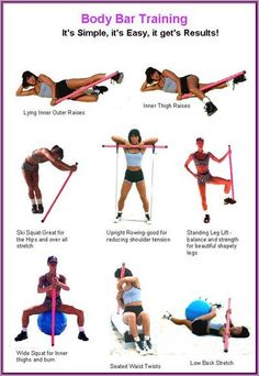 Image result for exercises with weighted bar
