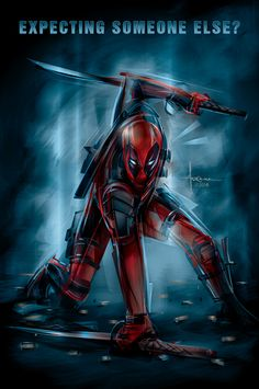 #Deadpool #Fan #Art. (Deadpool - Poster Posse tribute) By: Arocena Orlando. ÅWESOMENESS!!!™ ÅÅÅ+ (LOOK!! LOOK!! HE'S GOING TO DO IT!! THEY ALL DO IT!! AHH YEAH!! SUPERHERO LANDING!!! :-)