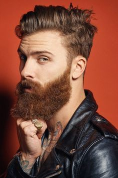 Such a cool look. From BEARDREVERED on tumblr