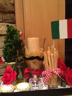 Italian centerpiece i made for my party. & italian table setting | wedding shower | Pinterest | Italian party ...