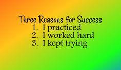 Three Reasons For Success - Vinyl Wall Art -  Classroom Decor - Vinyl Decor - Vinyl Wall Decal - Inspirational - Education