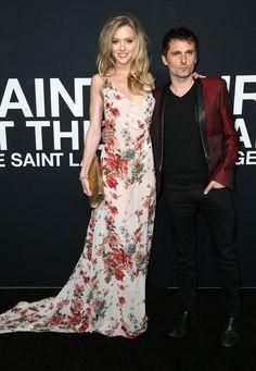 MUSE : Matt Bellamy and Elle Evans_ 10 February 2016 - Saint Laurent show - Hollywood Palladium, Los Angeles