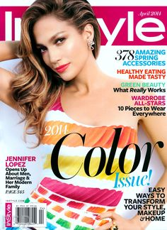 Jennifer Lopez radiant in the April InStyle with H.Stern Iris earrings and Copernicus ring.