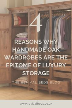Take a look at our favourite solid oak bedside tables and how they can be made bespoke for your purposes. Handmade Bedroom Furniture, Oak Wardrobe, Paint Finishes, Bedroom Storage, Solid Oak, Bedside Tables, Luxury, Wardrobes, Bespoke