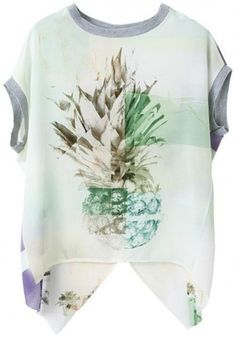 Multicolor Floral Short Sleeve Wrap Blouse