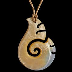 Pearl Shell Koru by Kerry Thompson