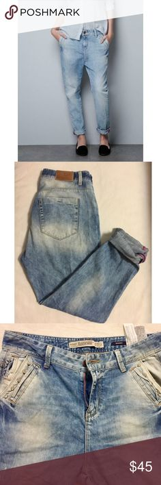 Zara baggy jeans Zara premium baggy jeans. In excellent used condition. US Size4 Zara Jeans