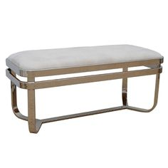 Thick Banded Polished Nickel Bench