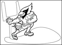 cardinals football coloring pages - photo#6