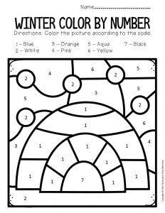 Color By Number Winter Preschool Worksheets Preschool Winter Worksheets Preschool Worksheets Winter Preschool